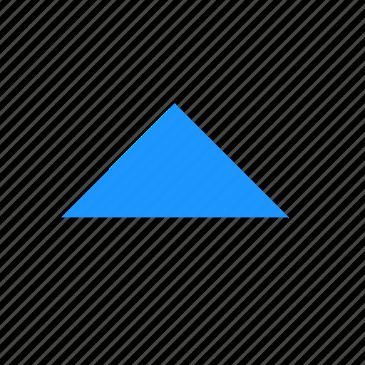 arrow, navigation, north, triangle icon