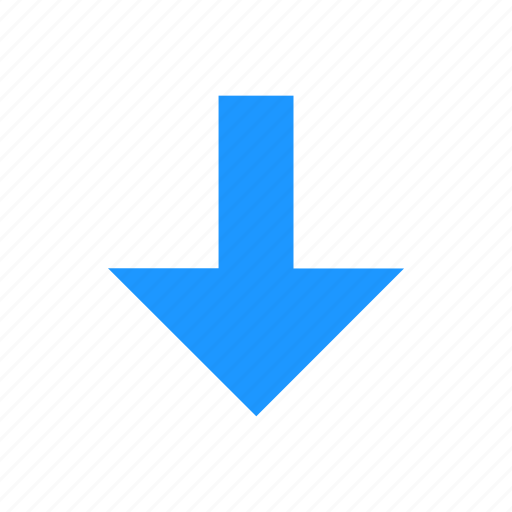 Arrow, down, navigation, south icon - Download on Iconfinder