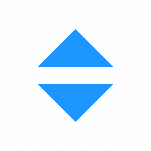 arrows, navigator, north and south, up and down icon