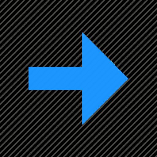 arrow, arrow right, navigator, pointer icon
