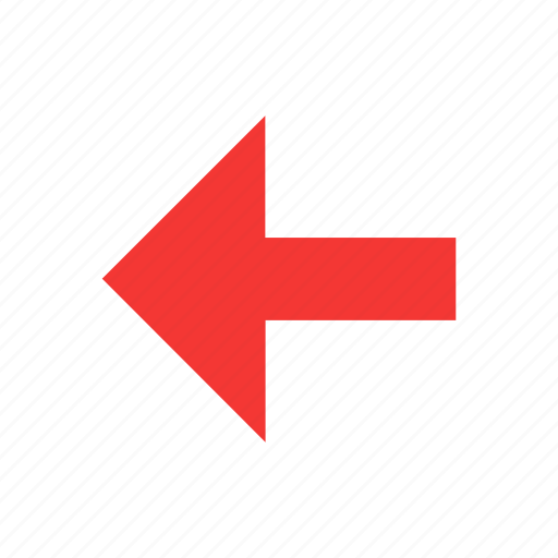 arrow left, direction, east, navigation icon