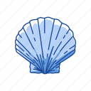 animal, marine animal, mollusk, ornament, scallop, seafood icon