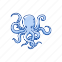 animal, mollusc, mollusk, octopus, tentacles