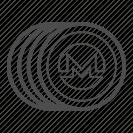 bill, cash, coin, monero, money icon