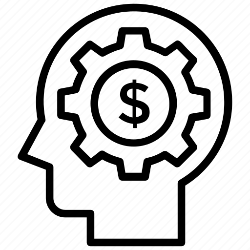 artificial intelligence, brain calculation, brainstorming, financial management, logical finance planning icon