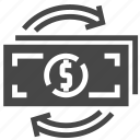 cash, exchange, money icon
