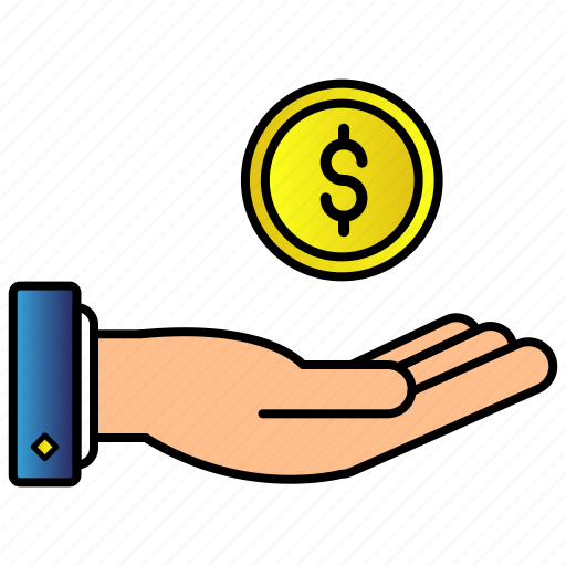 cash, currency, dollar, finance, hand, money, payment icon