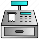 cash, finance, money, printer, receipt, register icon