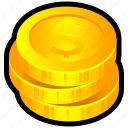 change, chips, coins, coinstack, money icon