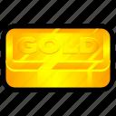 bar, gold, luxury, money, rich, standard icon