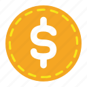 business, coin, currency, finance, money icon