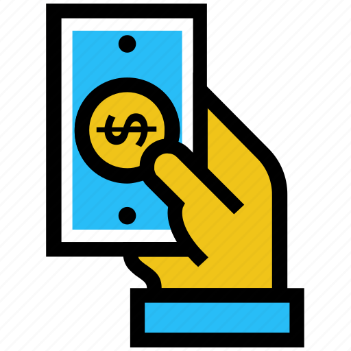cash payment, dollar, hand, income, money, salary icon