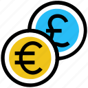 coin, coins, currency, euro, finance, money, pound icon