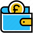 coin, finance, money, payment, pound, purse, wallet icon