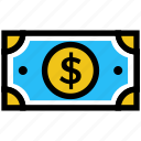 cash, dollar, dollar note, finance, money, payment icon