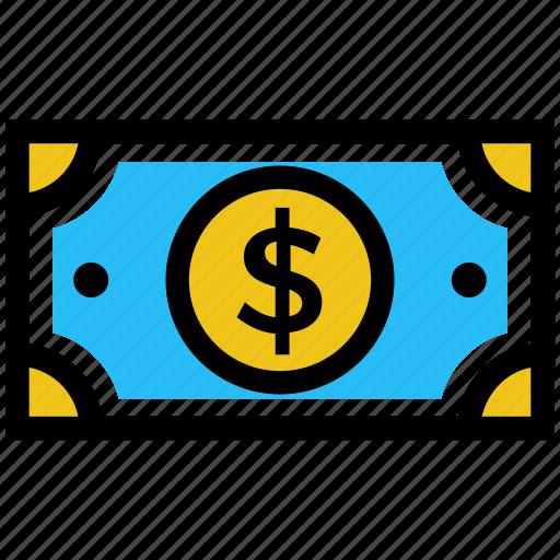 cash, dollar, dollar note, finance, money, payment icon