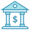 bank, building, dollar, finance, insurance, investment icon