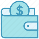 coin, dollar, finance, money, payment, purse, wallet icon