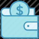coin, dollar, finance, money, payment, purse, wallet