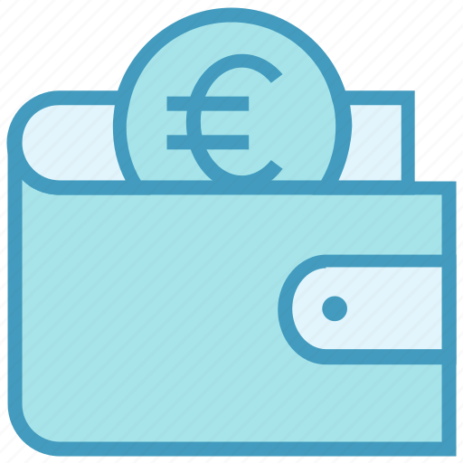 coin, euro, finance, money, payment, purse, wallet icon