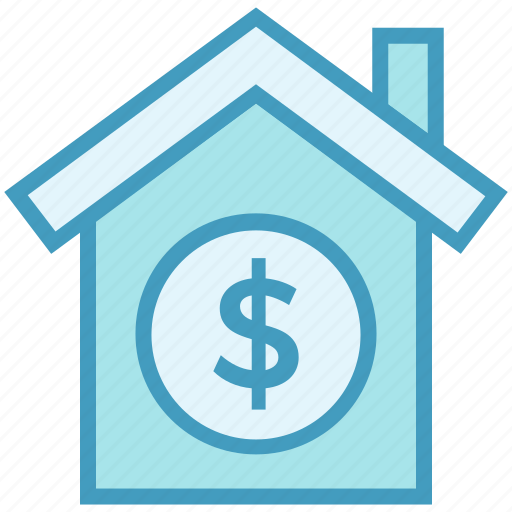 dollar, finance, home, house, insurance, property, property value icon