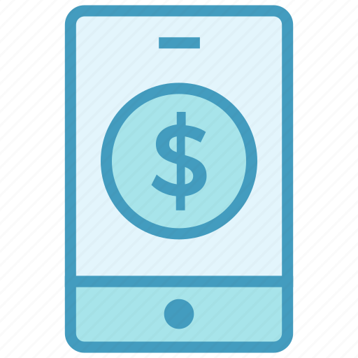 banking app, cellphone, dollar, mobile, mobile banking, smartphone icon