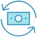 arrows, cash, dollar, dollar note, finance, money, payment icon