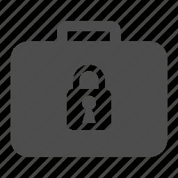 case, cash, finance, locked, money, safe, suitcase icon