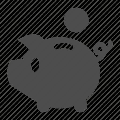 cash, coin, economy, finance, money, piggy, savings icon