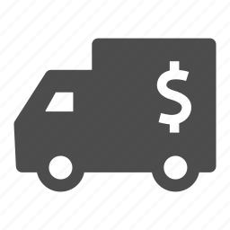 coin, currency, dollar, finance, money, truck, van icon