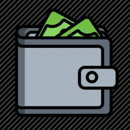 billfold, buy, cash, dollar, notecase, pocketbook, wallet icon