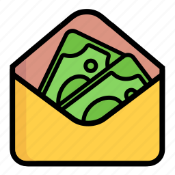 coin, currency, dollar, dollars, dough, envelope, money icon