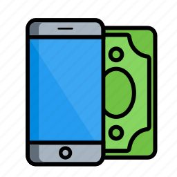 cash, iphone, mobile, pay, phone, smartphone, technology icon