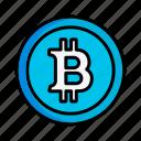 bitcoin, business, coin, money icon