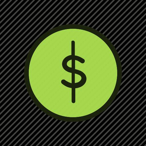 Finance, business, money, dollar, cash, coin, bank icon