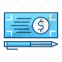 bank, check, money, payment icon