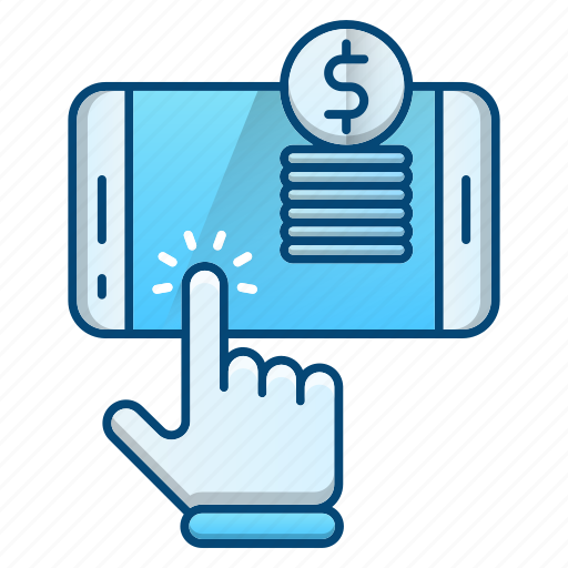 click, making money, online, pay, per icon