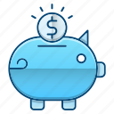 bank, cash, investments, piggy, savings icon