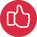 approve, facebook, good, thumbs, up icon