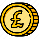 currency, pound, british, coin, money, finance