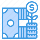 growth, coins, stack, money, cash
