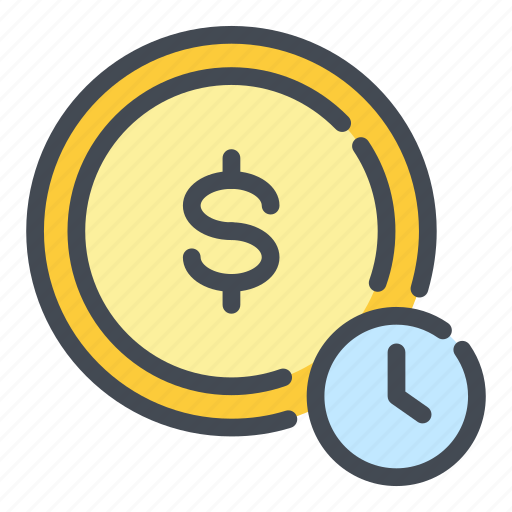 Coin, dollar, finance, marketing, money, time, watch icon - Download on Iconfinder