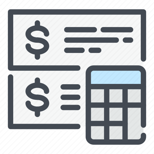 banking, calculation, calculator, finance, invoice, marketing, money icon