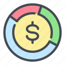 analytics, cash, coin, dollar, money, statistics, stats icon