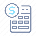 accounting, banking, business, calculator, currency, finance, money icon