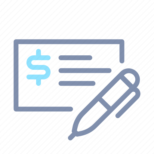 banking, business, check, finance, money, payment icon