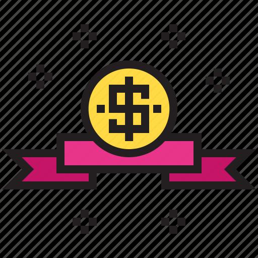 award, business, cash, coin, finance, money icon