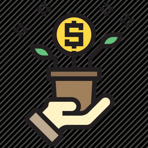 business, finance, growth, marketing, money icon