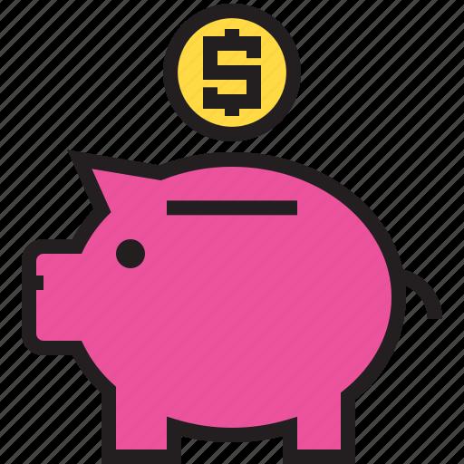 Business, dollar, finance, marketing, money, pig icon - Download on Iconfinder