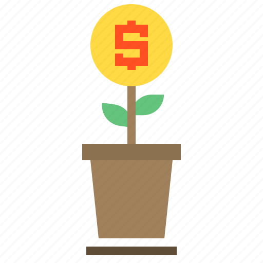 business, finance, growth, money icon